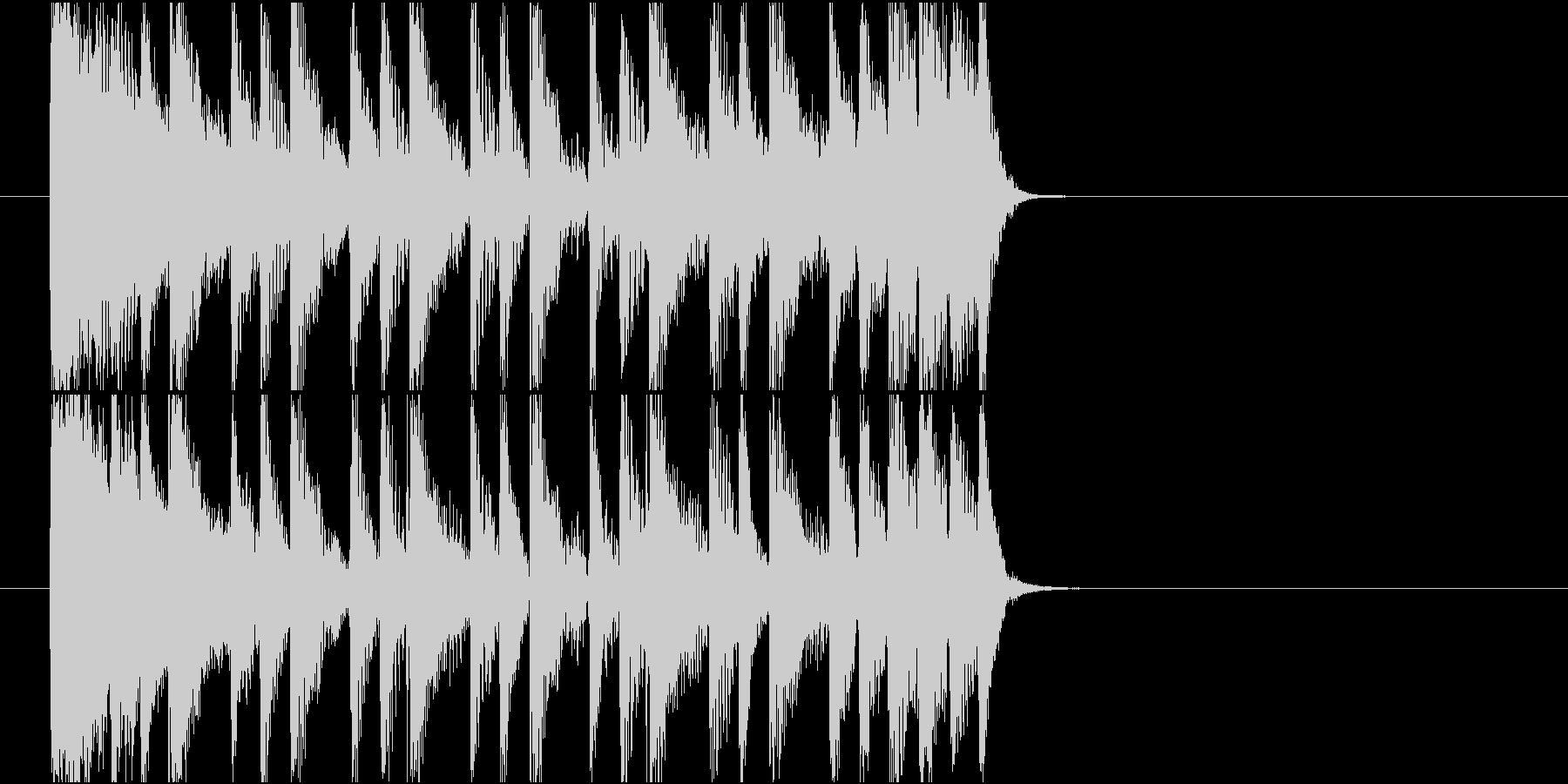 【ジングル】80年代ディスコ風の曲の未再生の波形