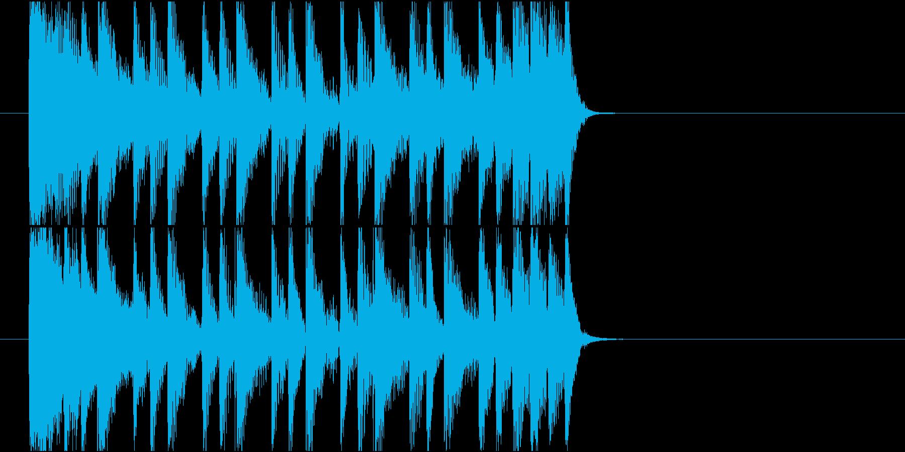 【ジングル】80年代ディスコ風の曲の再生済みの波形