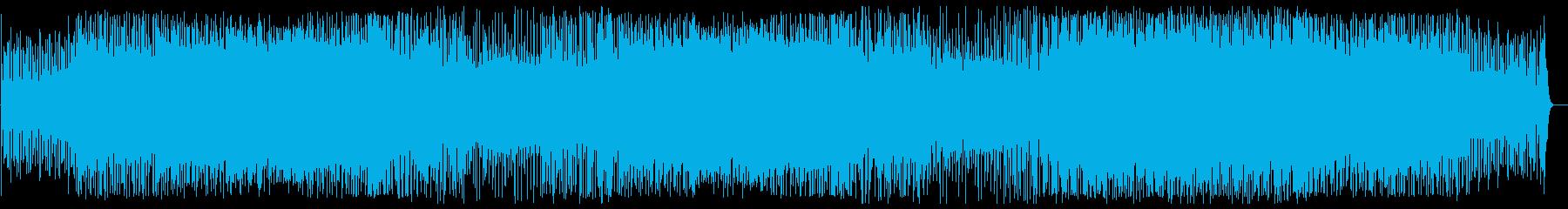 軽快でリズミカルなピアノテクノポップの再生済みの波形