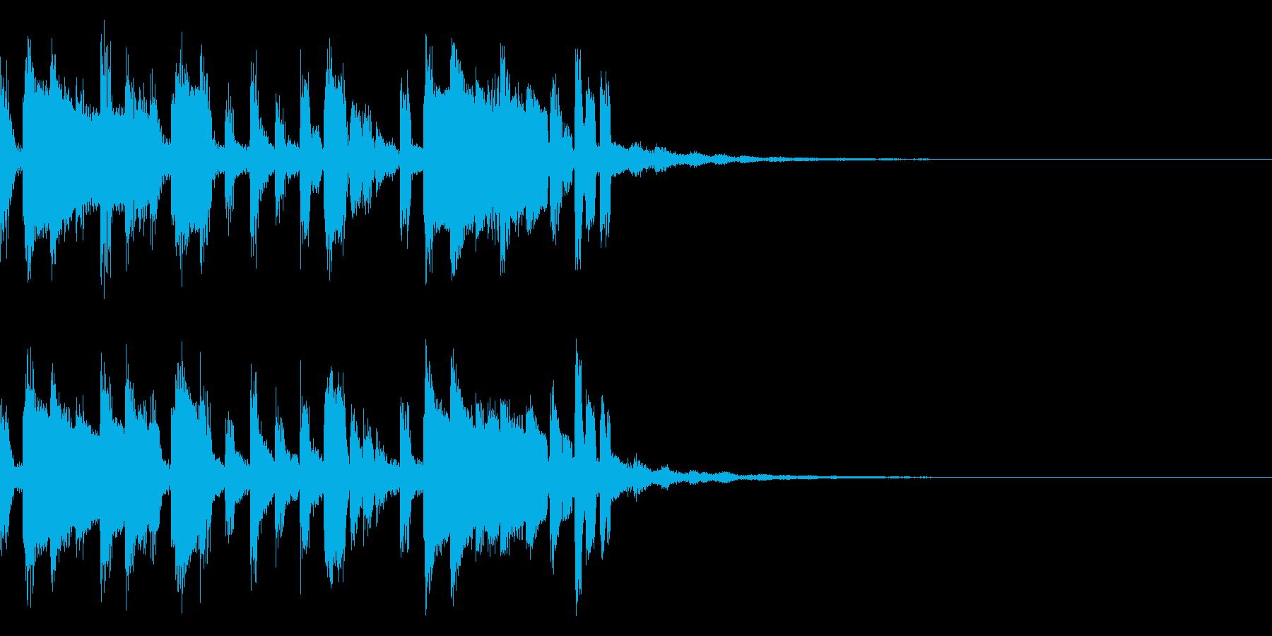 テクノ・ジングルの再生済みの波形