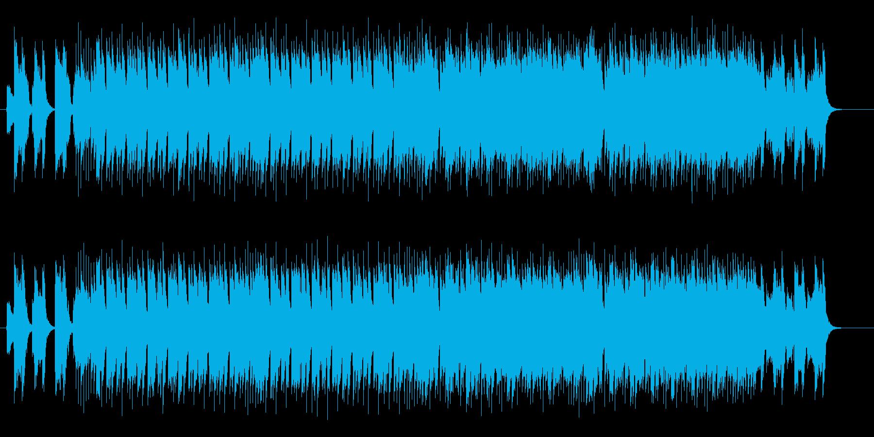 激しいギターが印象的なロックの再生済みの波形