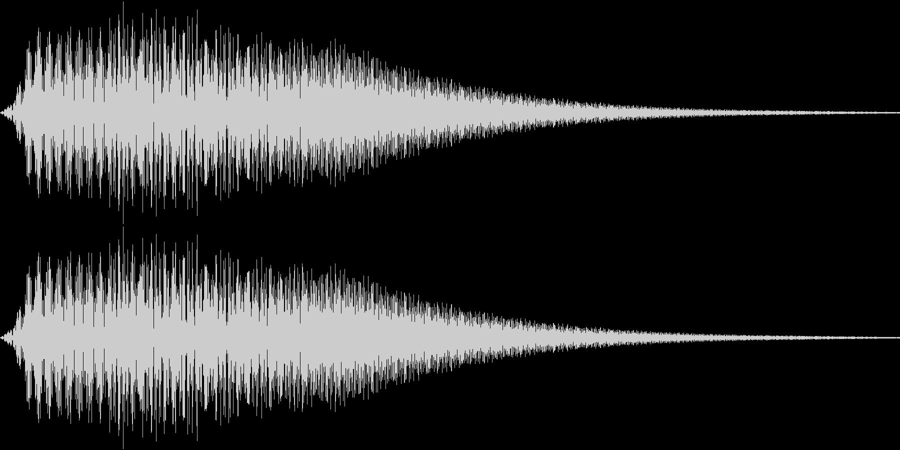 ピンポーン(一回だけ)の未再生の波形
