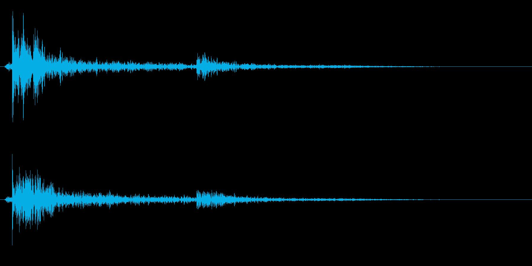 水滴落下(少量、雨漏り、水漏れ)の再生済みの波形