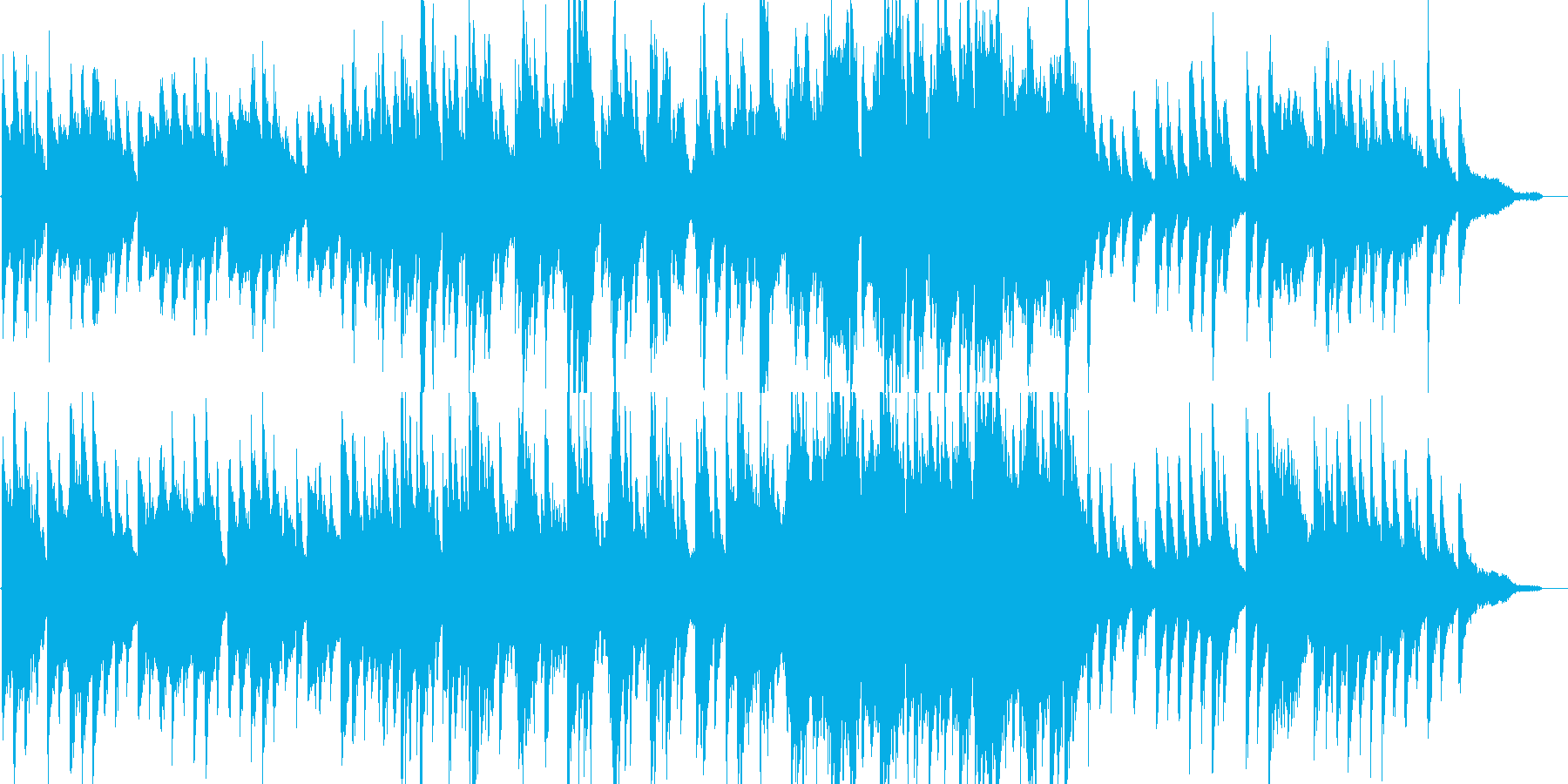 リラックス・ジャズ・映像・ナレーション用の再生済みの波形
