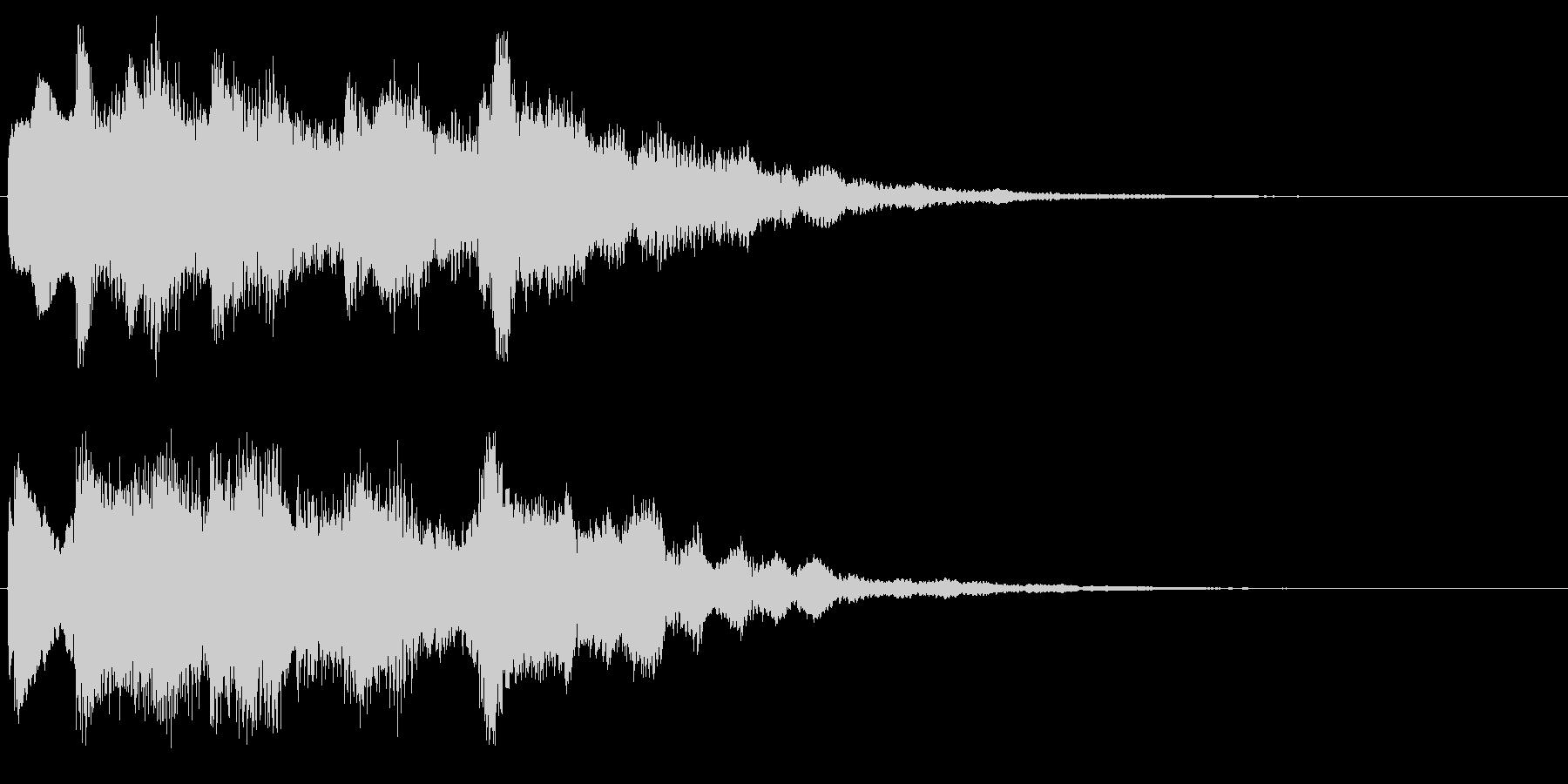 ベル系の場面転換音 転回音 サウンドロゴの未再生の波形