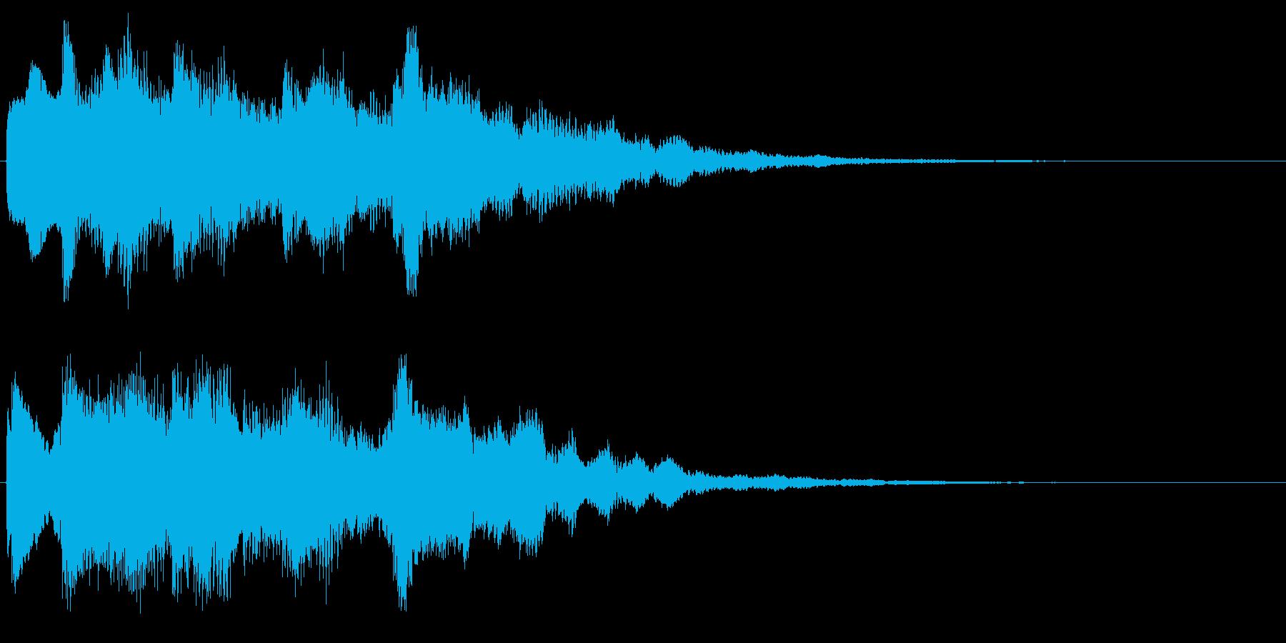 ベル系の場面転換音 転回音 サウンドロゴの再生済みの波形