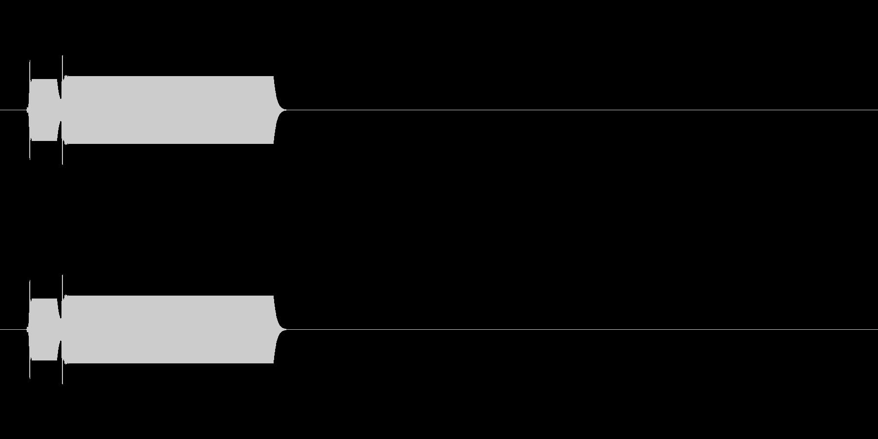 ピコーン/クイズゲームの正解音などにの未再生の波形