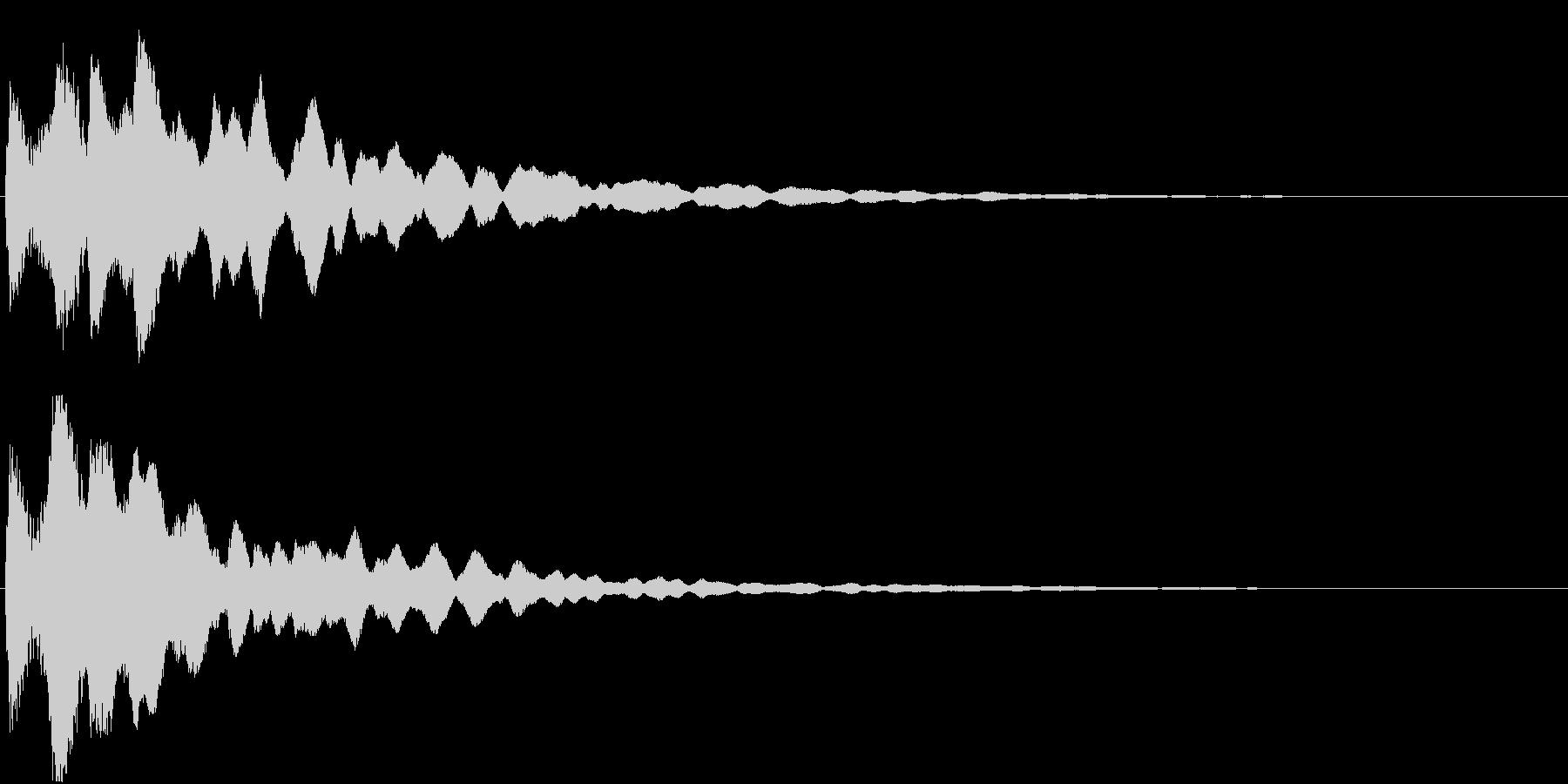 ピコン(ゲーム・アプリ等の決定音)の未再生の波形