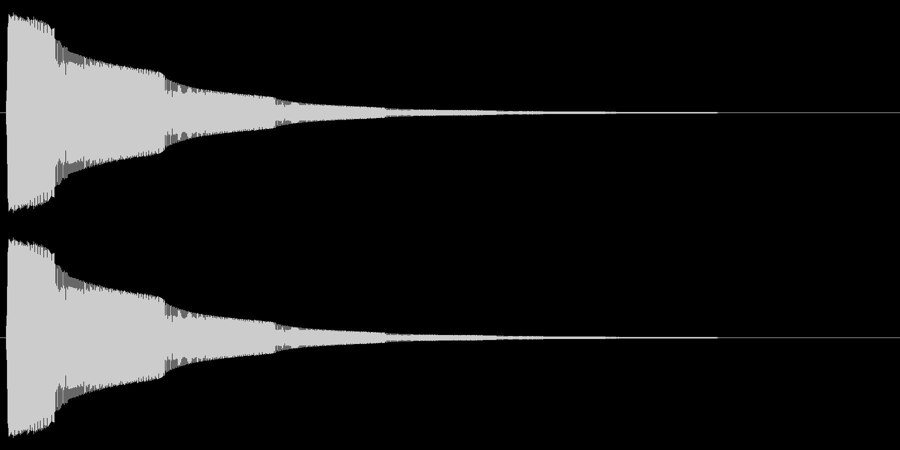 タッチ/決定/シンプル/シンセサイザーの未再生の波形