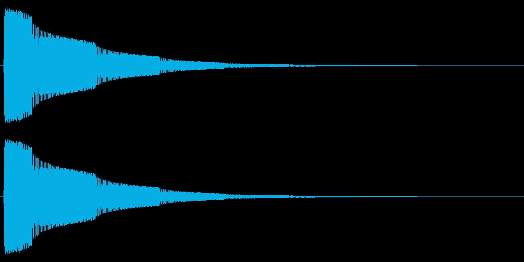 タッチ/決定/シンプル/シンセサイザーの再生済みの波形