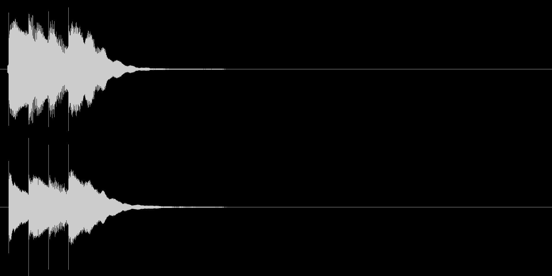 アラーム音02 グロッケン(sus4)の未再生の波形