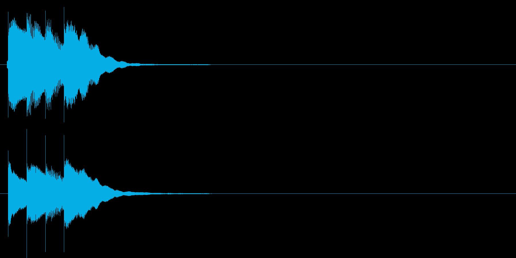 アラーム音02 グロッケン(sus4)の再生済みの波形