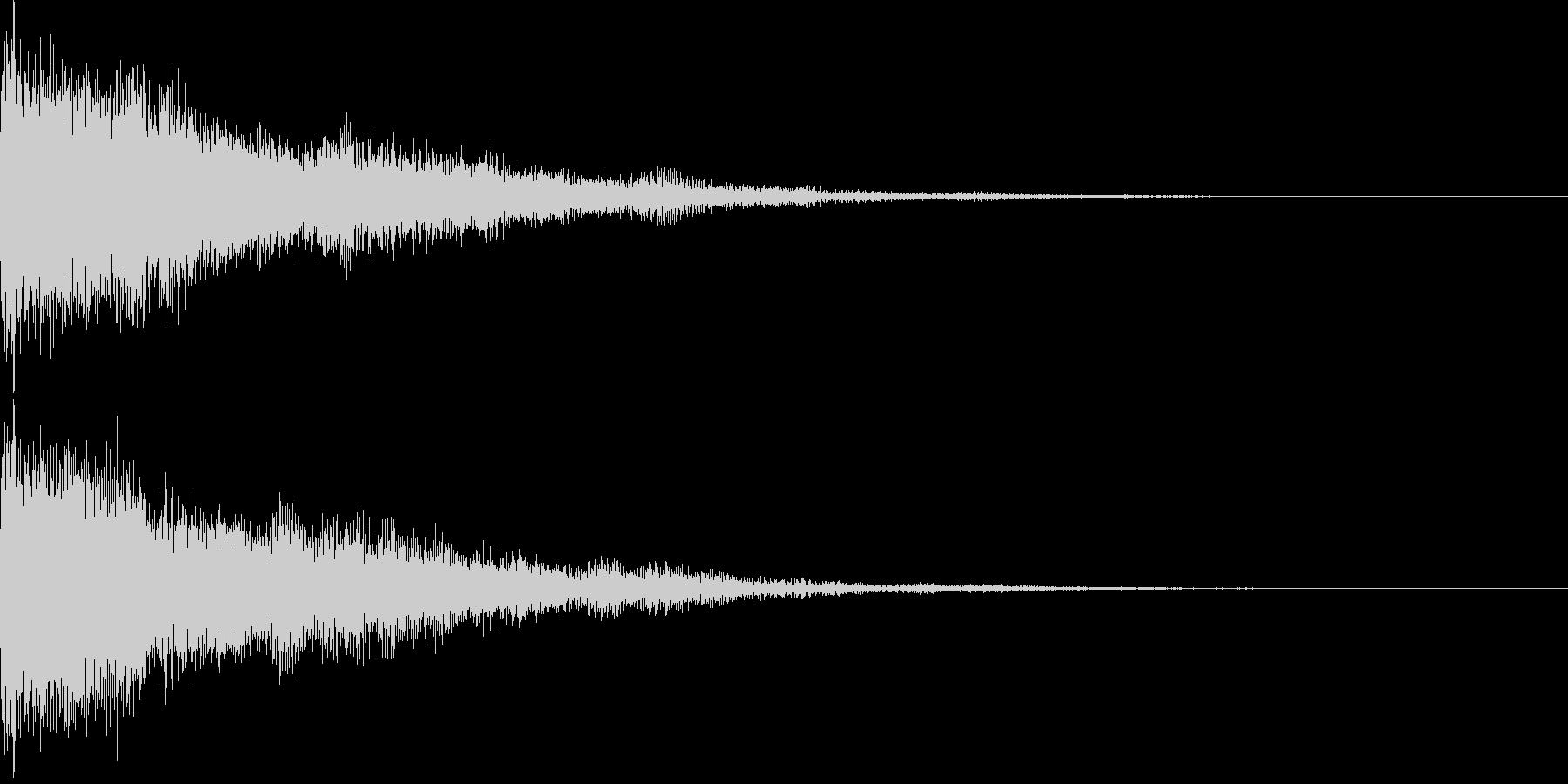 ピコーン(チャイム ひらめき スイッチ)の未再生の波形