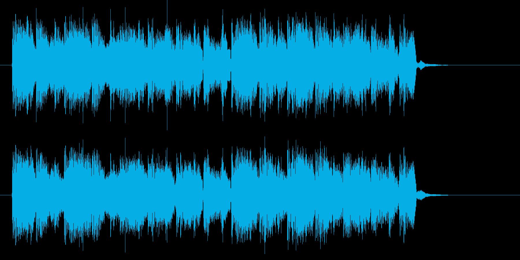 幻想的でゆったりとした音楽の再生済みの波形