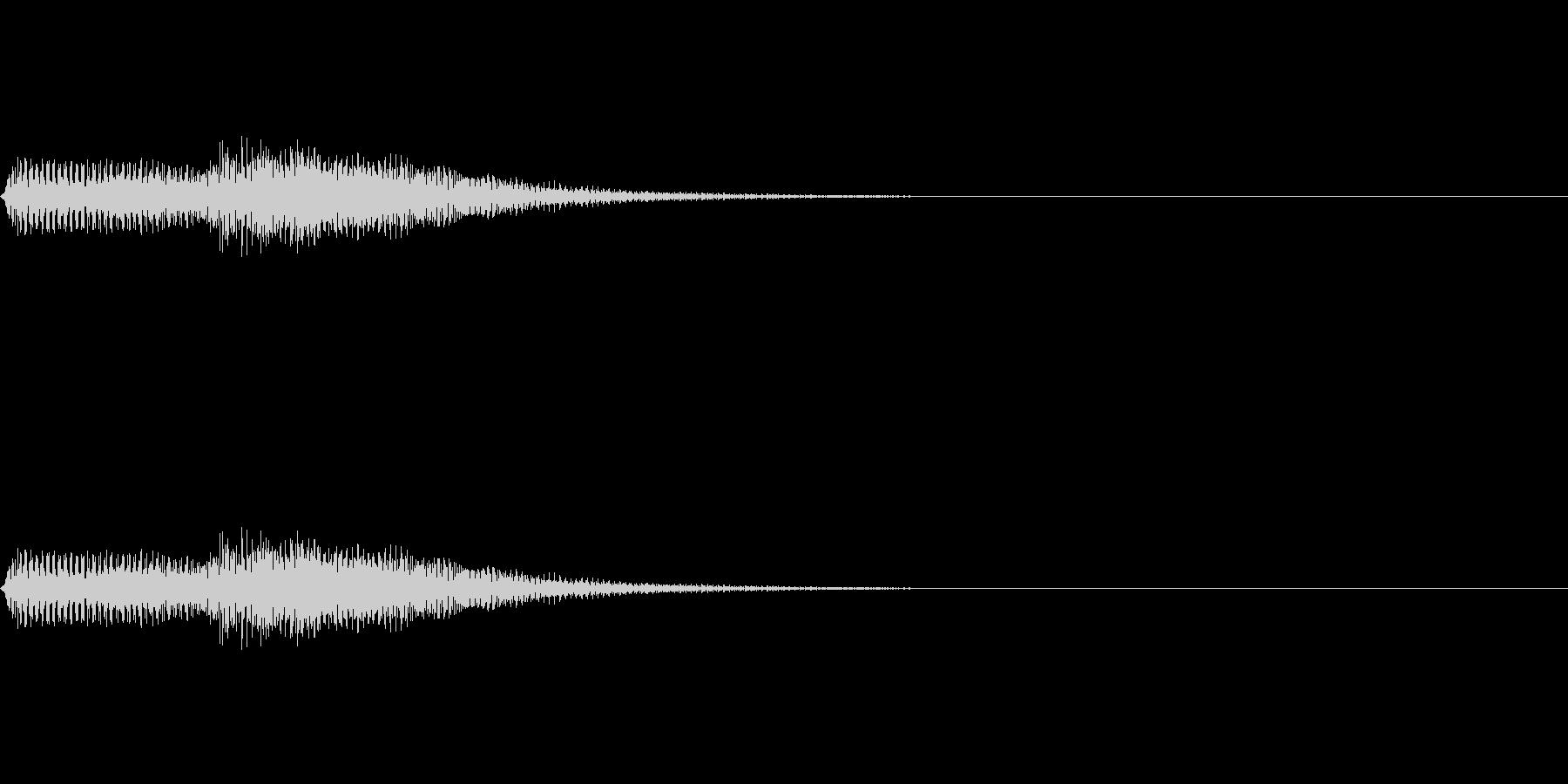 タタン(ピアノのエラー音)の未再生の波形