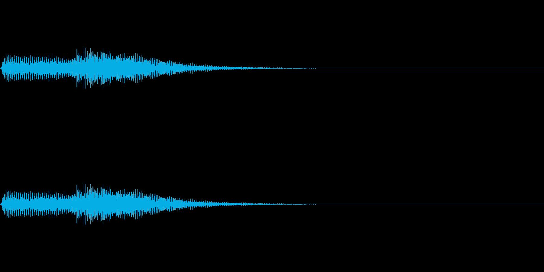 タタン(ピアノのエラー音)の再生済みの波形