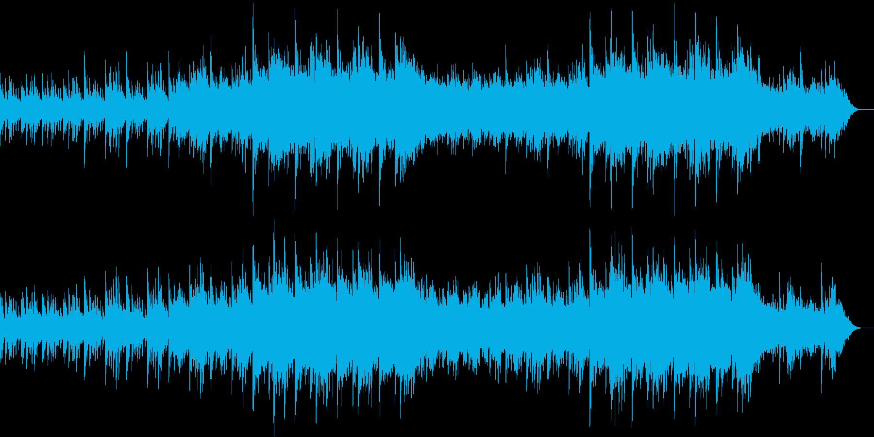 ピアノ、環境音楽ヒーリング-09の再生済みの波形