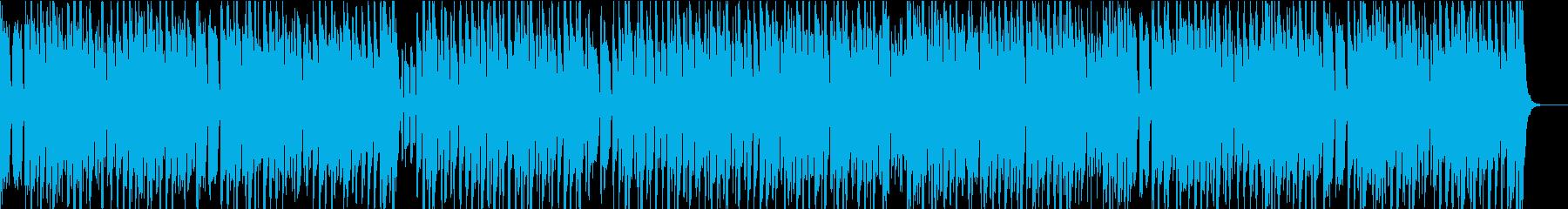 うきうきしたコミカルな南国イメージの再生済みの波形