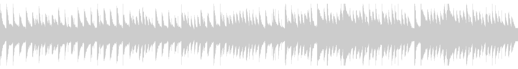 鉄琴のBGM(ループ)の未再生の波形