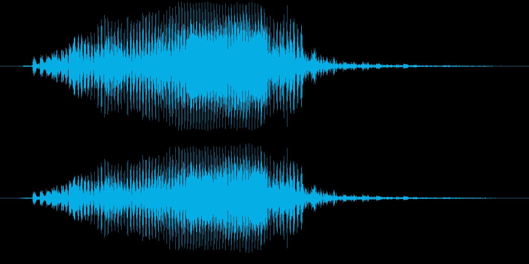 くわっの再生済みの波形