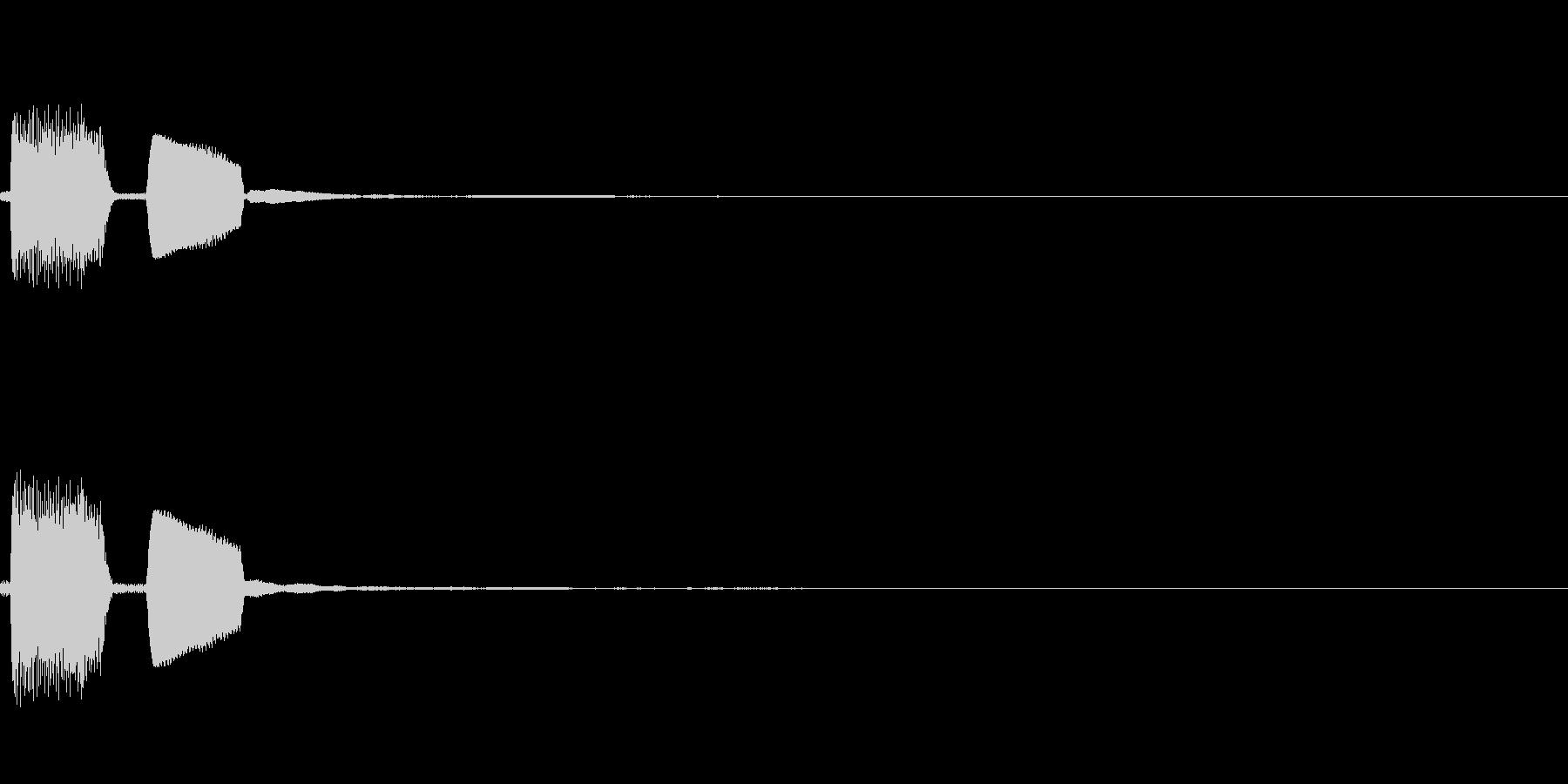 【システム音セット01-クリック】の未再生の波形
