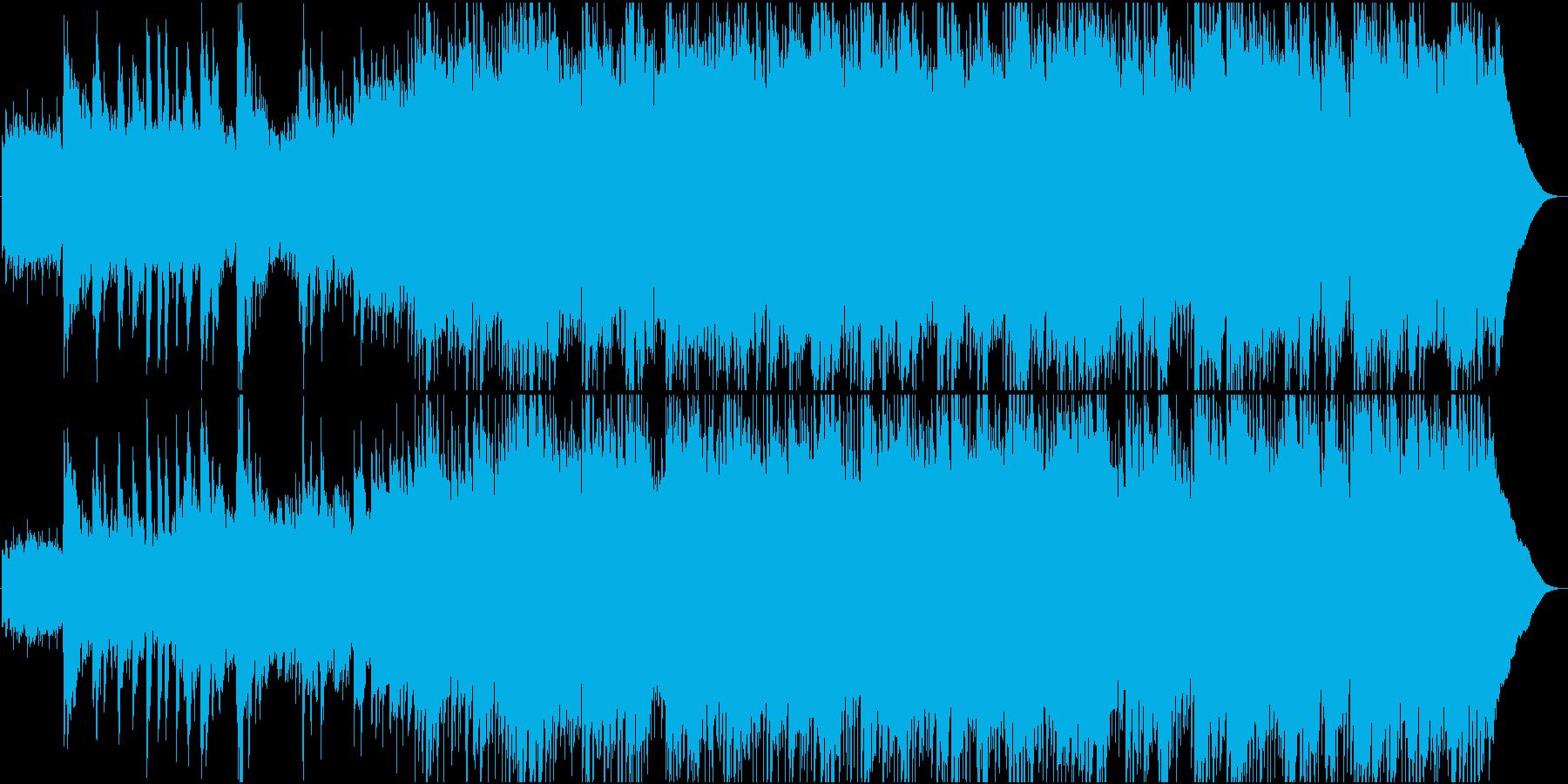 アコースティックギターの切ないポップスの再生済みの波形
