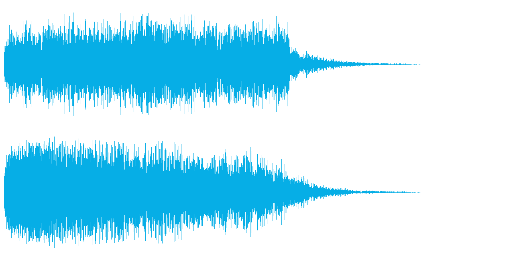 ウワァ~ンウワ~ンの再生済みの波形
