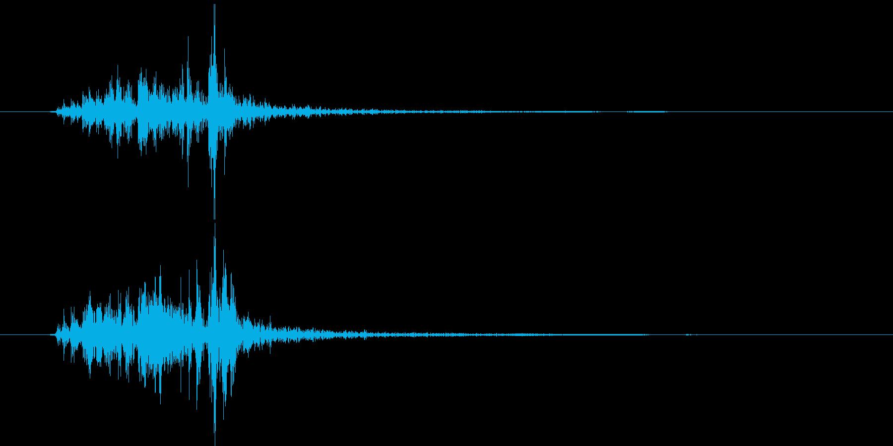 【手拍子】チャっチャっ(単発)の再生済みの波形