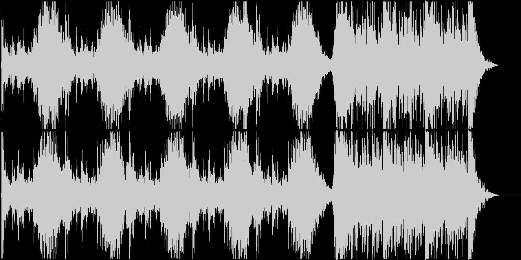 打楽器中心のトレーラーBの未再生の波形