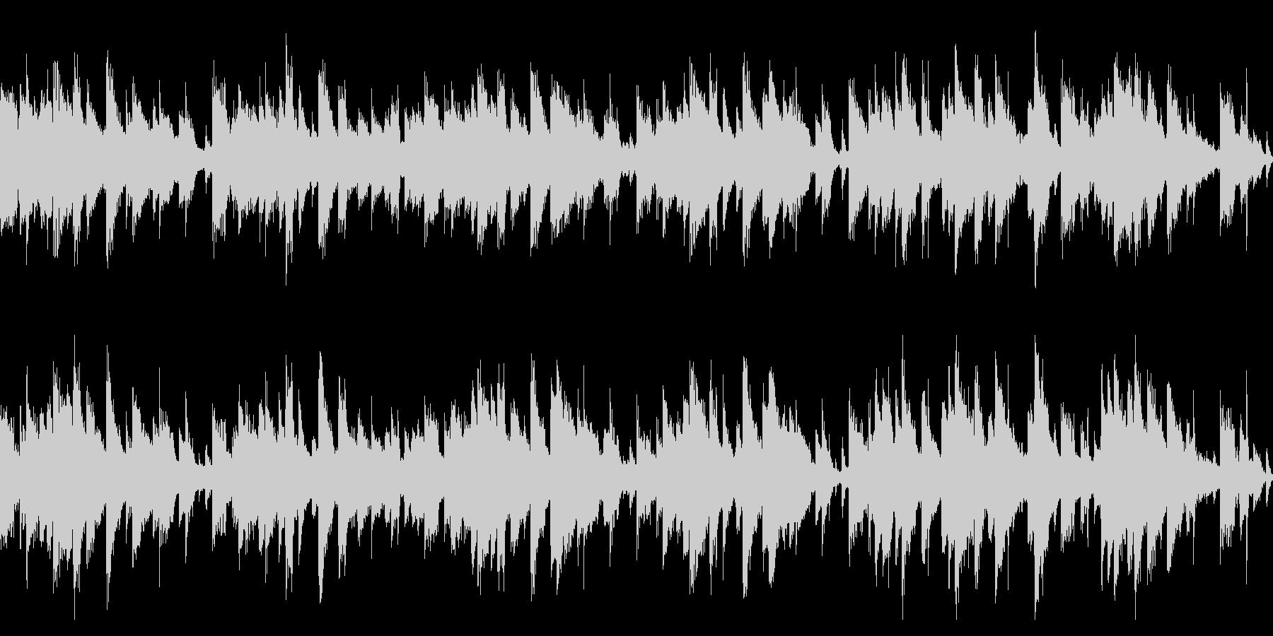 そよ風が歌うようなピアノ曲(ループ)の未再生の波形