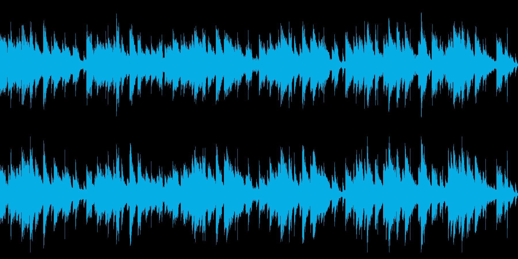 そよ風が歌うようなピアノ曲(ループ)の再生済みの波形