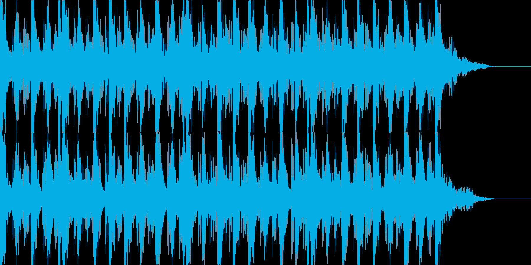 程よいテンション感のあるテクノなジングルの再生済みの波形