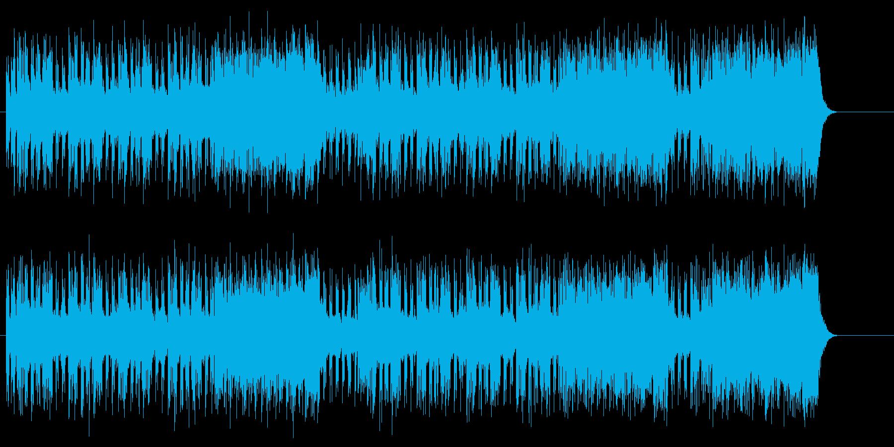 スリル感を高めるビートサウンドの再生済みの波形