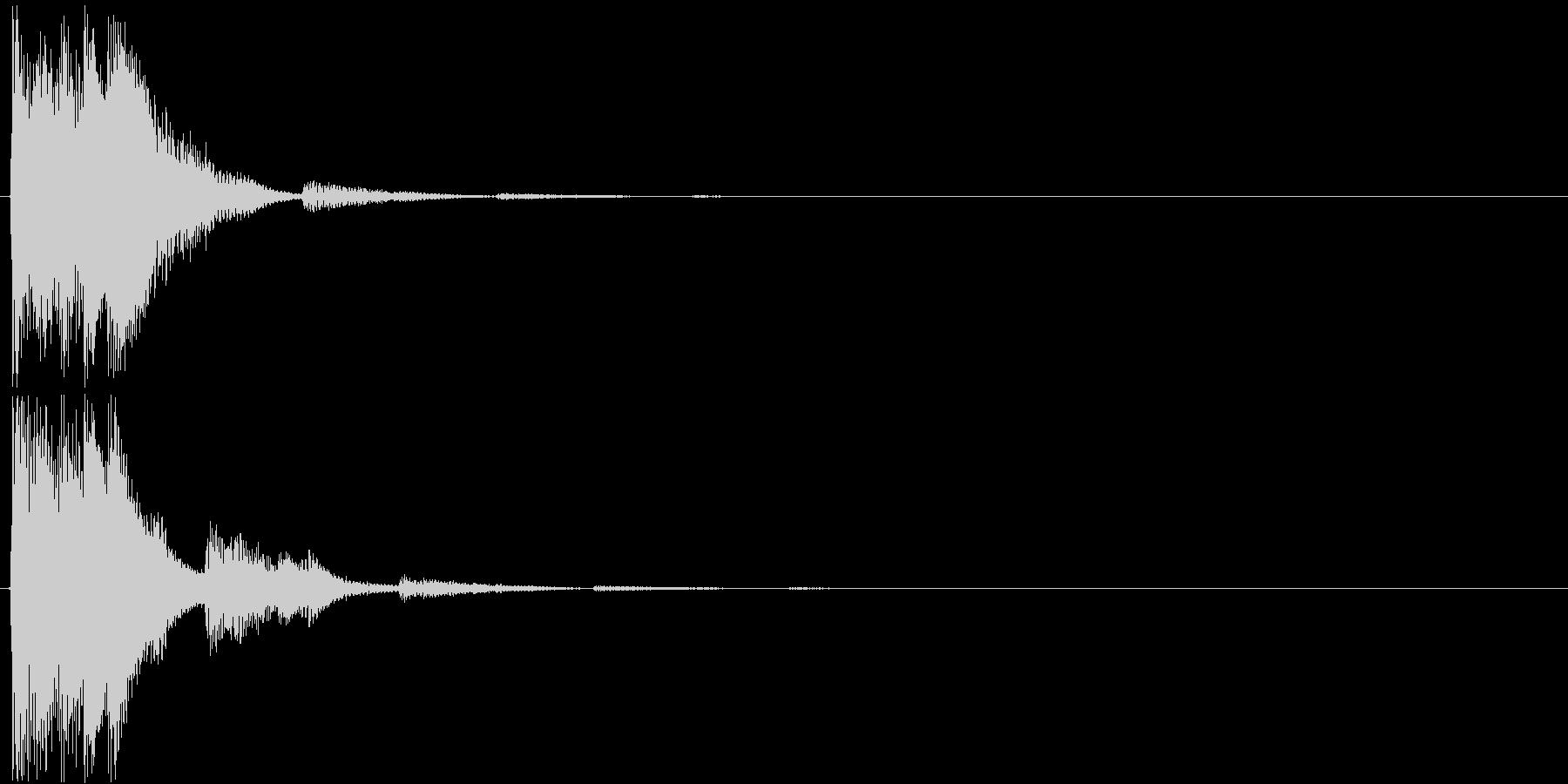 様々な用途で使える、上昇する電子音SEの未再生の波形