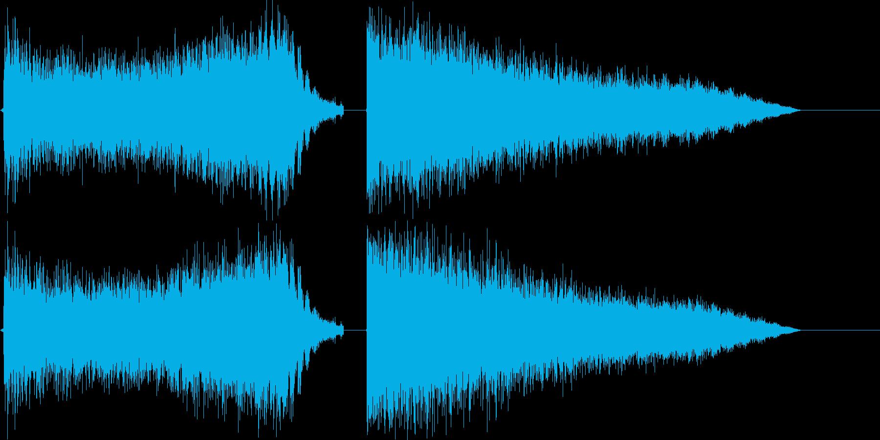 超強力なビームの再生済みの波形