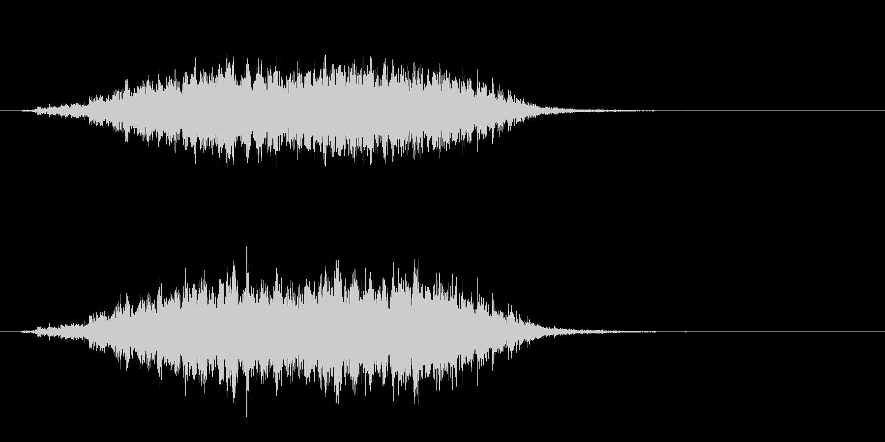 重めの鈴の音「えきろ」フレーズ音2+Fxの未再生の波形