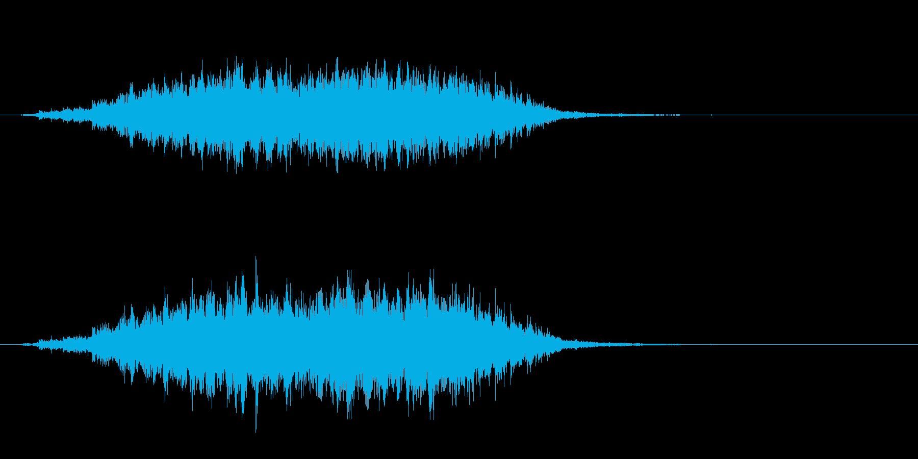 重めの鈴の音「えきろ」フレーズ音2+Fxの再生済みの波形