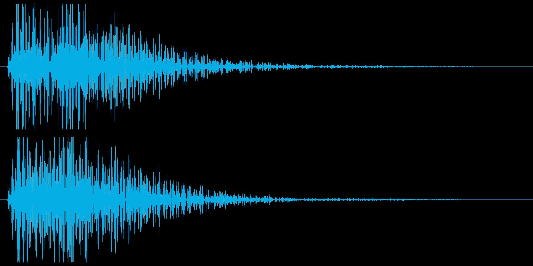 ゴーン(金属を叩く音)の再生済みの波形