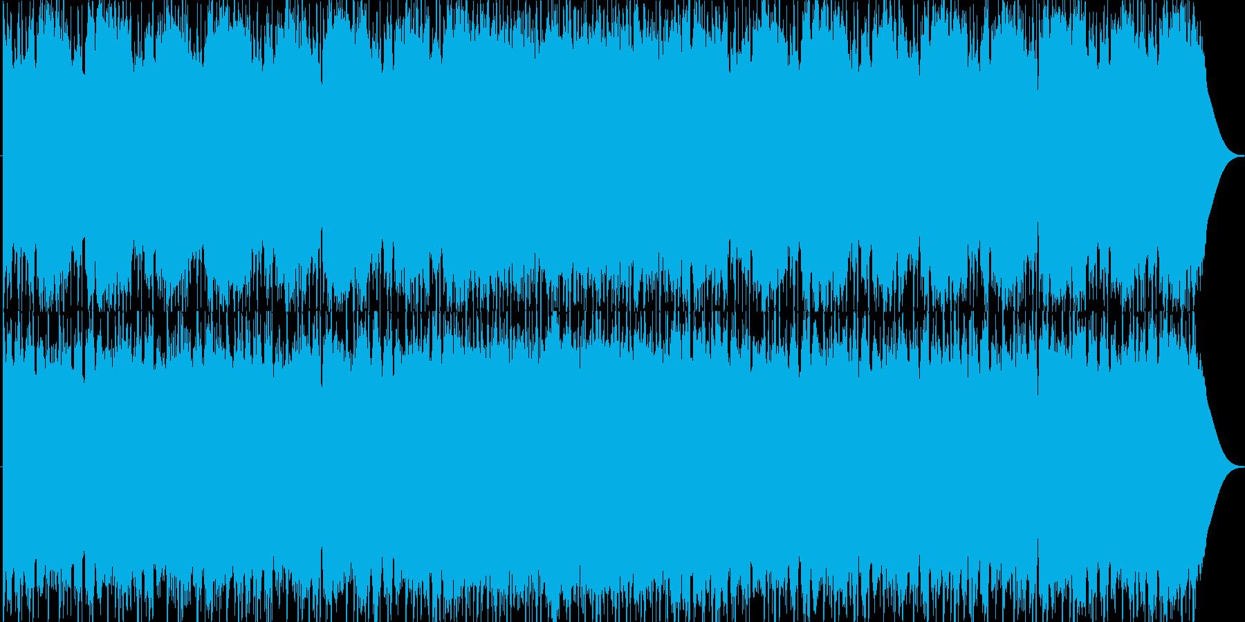 攻撃的な生のエレキギターダンスロックの再生済みの波形