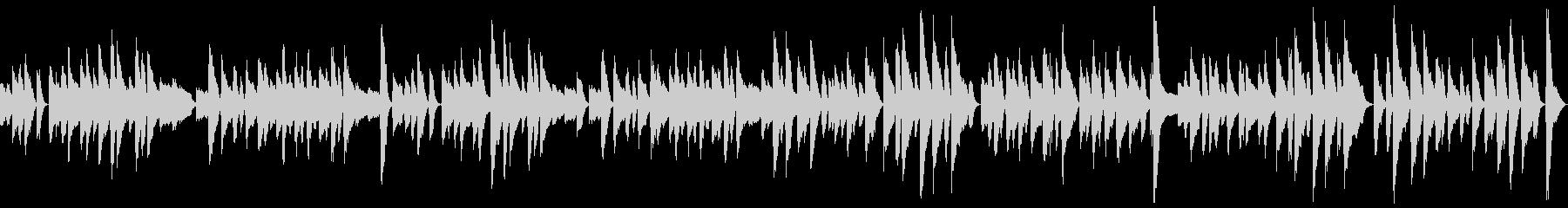 ループ ピアノソロのコミカルなラグタイムの未再生の波形