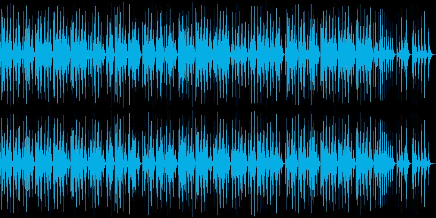 懐かしい雰囲気のオルゴール曲の再生済みの波形
