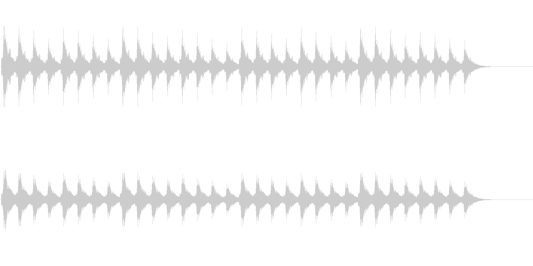 クリスマスの背景音に(スレイベル)の未再生の波形