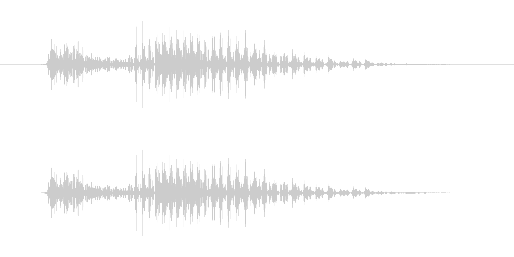 10 (ten, 英語、米国男性声優:…の未再生の波形