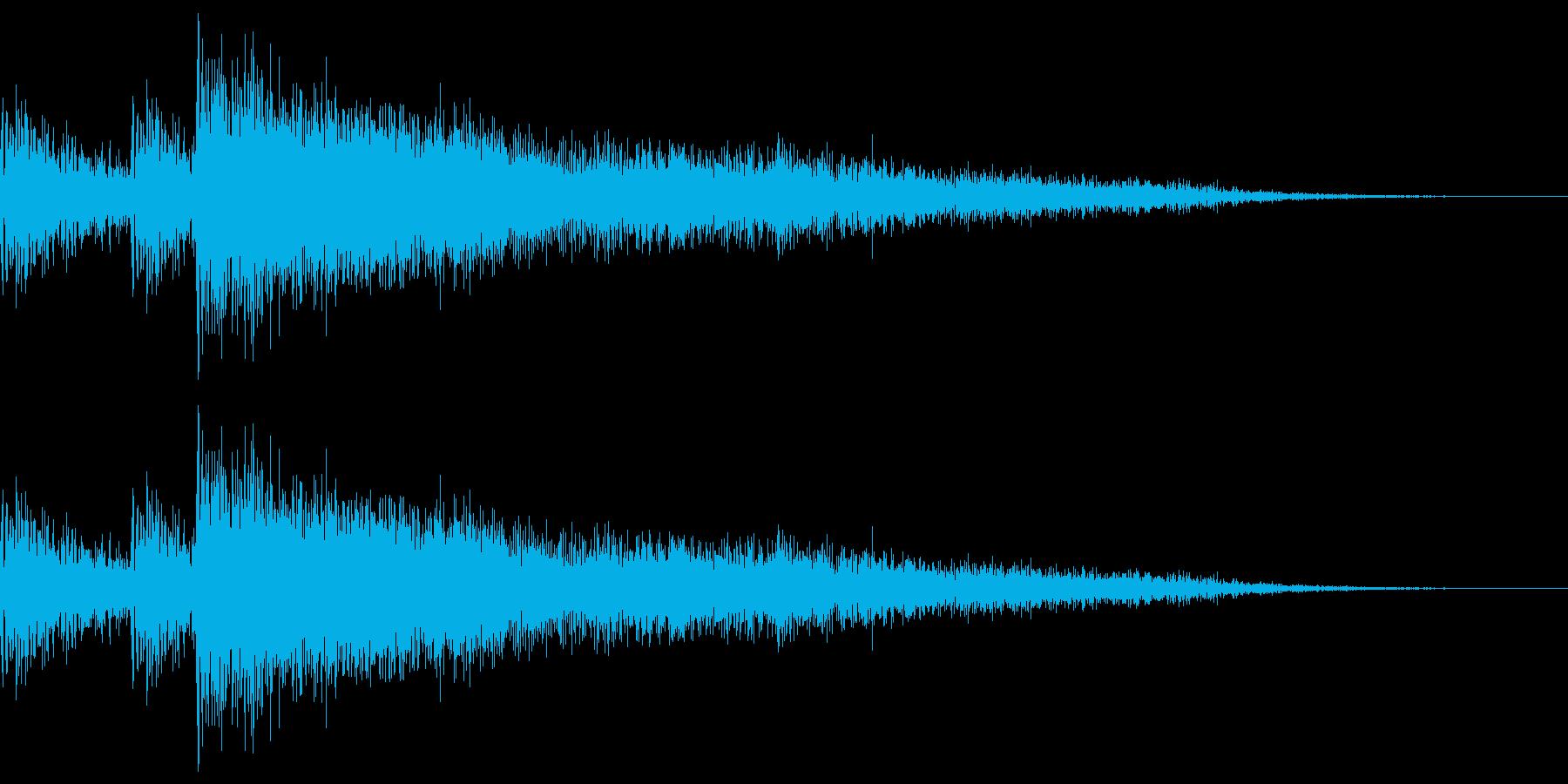 スネアとシンバルによるアクセント的なド…の再生済みの波形