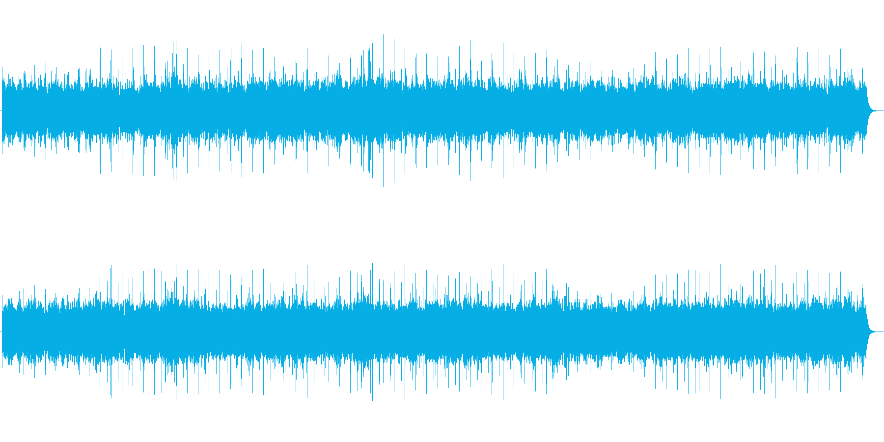 オーケストラ、ファンタジー系BGMの再生済みの波形