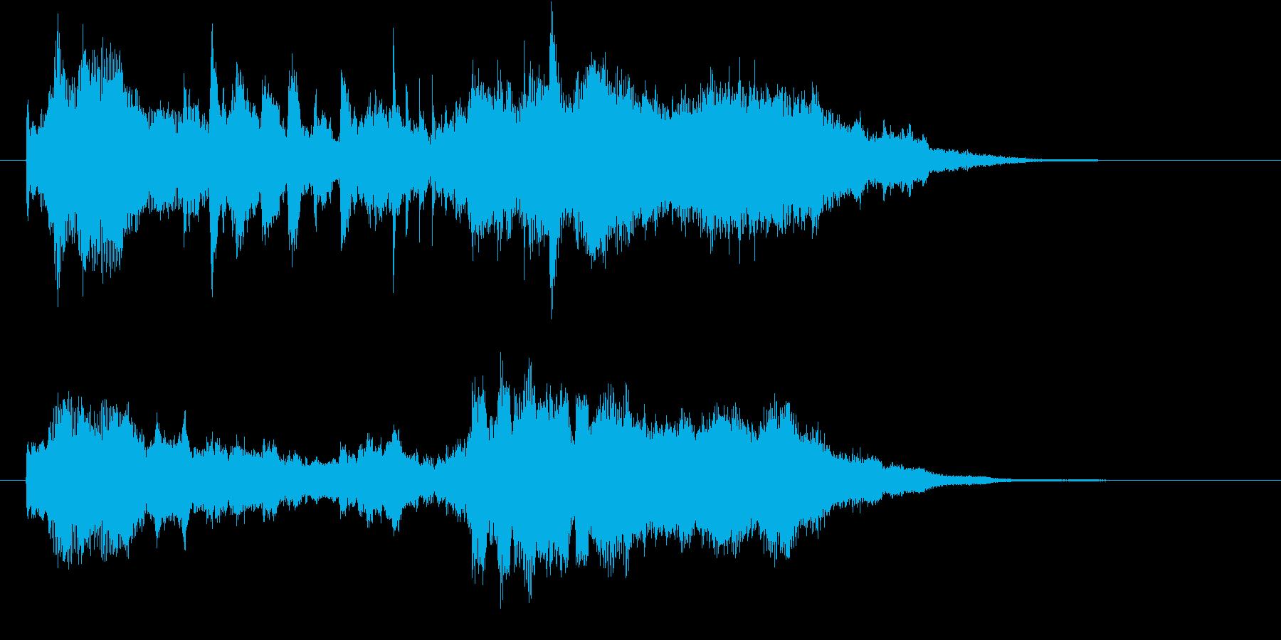 先進的で幻想的なクリスタルサウンドロゴの再生済みの波形