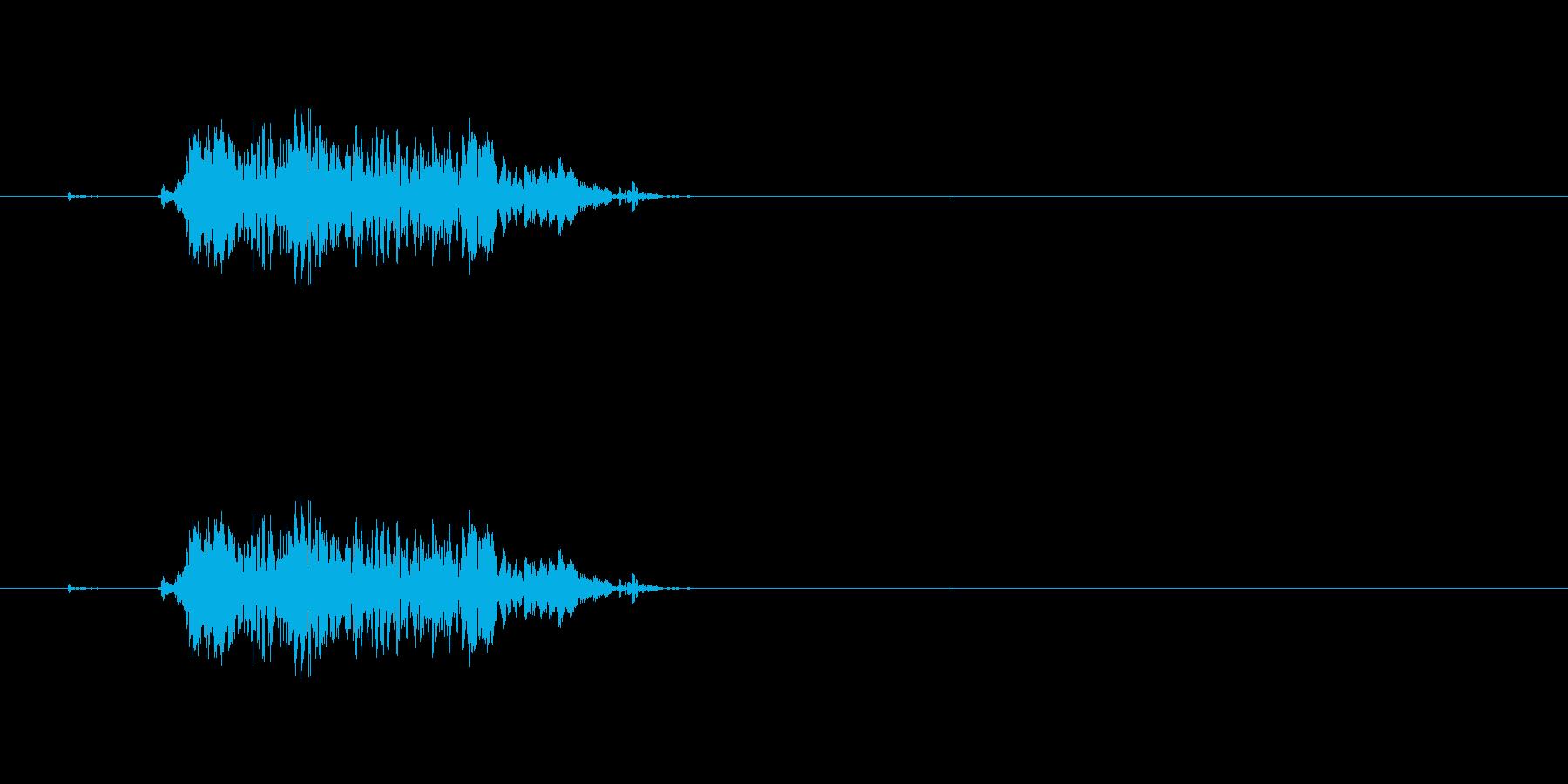 ゲームやアニメ向けの噛み付き音。の再生済みの波形