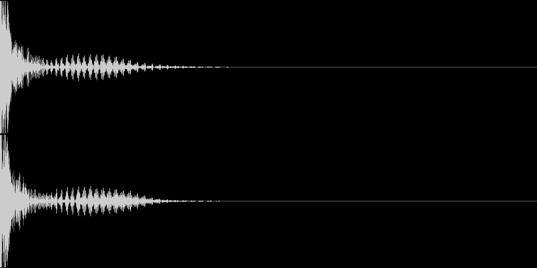 Rifle レーザーライフル ショット音の未再生の波形