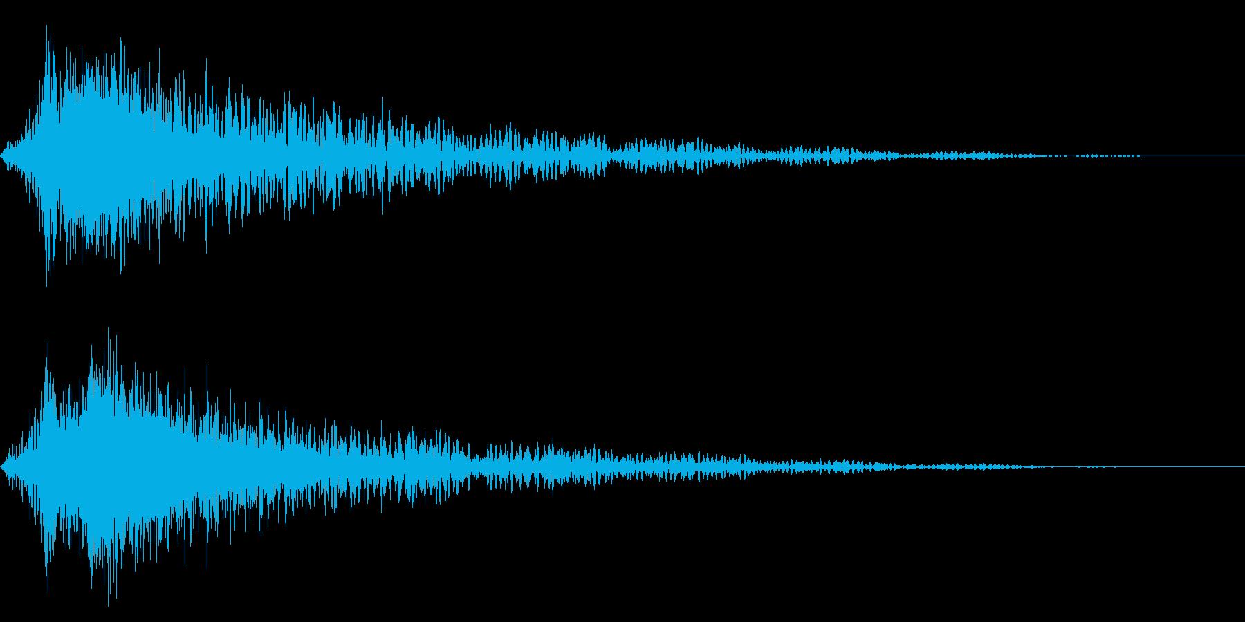 ホラー系アタック音75の再生済みの波形