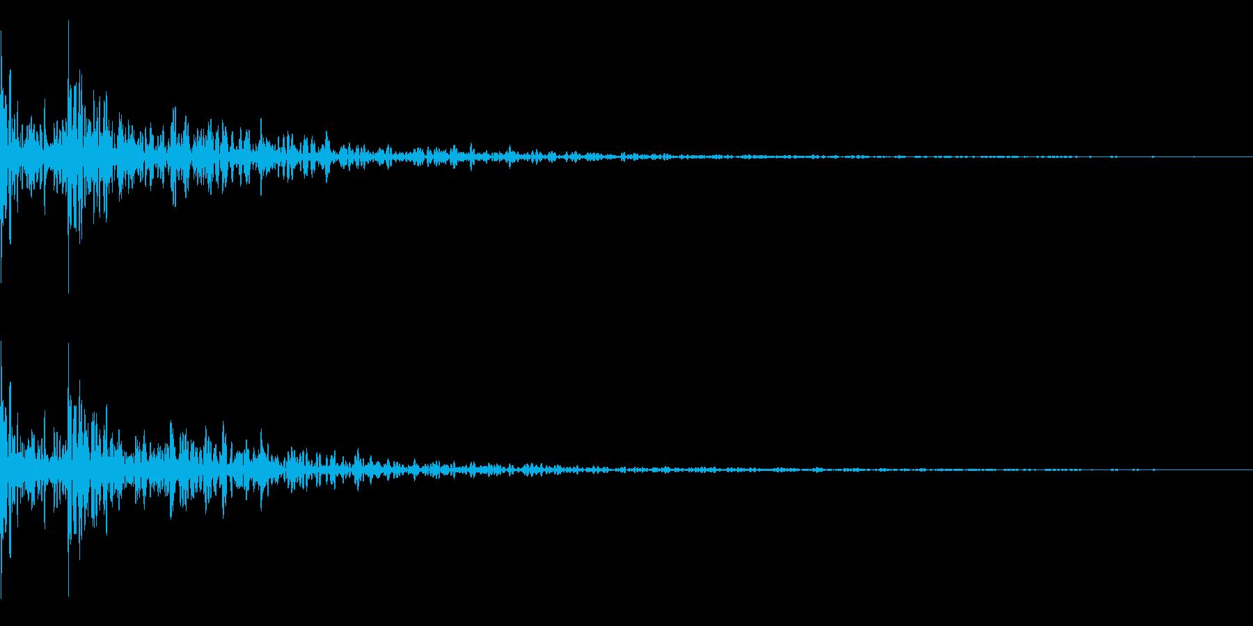 ドドン!リアルな和太鼓!の再生済みの波形